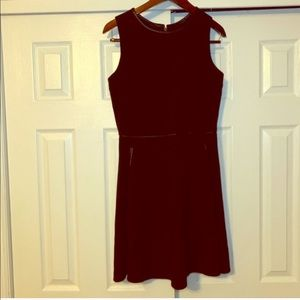 LOFT Black A-line Dress Size 6 with pockets
